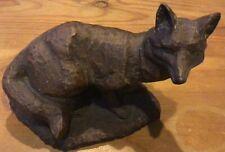 Fox Figurine Carved Appearance Sitting Resin Fox