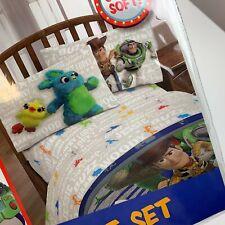 Toy Story 4 Disney Pixar Twin Sheet Set Woody Buzz Bo Duke Forky Boys Soft NEW