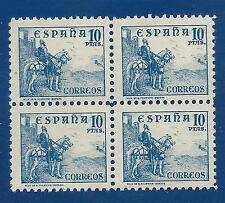 ESPAÑA 1939 EDIFIL 831**X4  MAGNÍFICO BLOQUE DE 4 PRECIO CATÁLOGO 640,00€