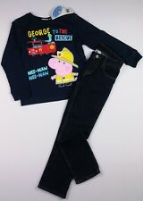 Boys Clothes (PEPPA) Fireman GEORGE Top & H&M Jeans Outfit 5-6 Years 116cm BNWT