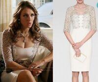 BNWT, L.K. Bennett Hattie Lace Trim Dress, Cream White Wedding UK 12 RRP £295