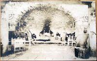 1920s Realphoto Postcard: Rest House Interior/Fireplace-Grand Canyon, Arizona AZ
