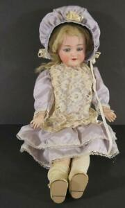 """16"""" Antique German Bisque Head Doll S&H Santa with Clothing"""