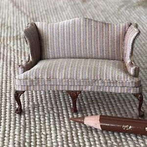 "Bespaq Silk Stripe Sofa Couch Lounge Seat HALF INCH 1:24  1/2"" Scale 2615"