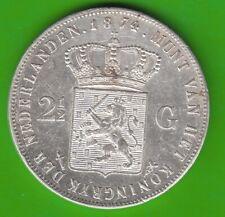 Niederlande 2 1/2 Gulden 1874 knappes vz hübsch nswleipzig
