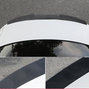 Universal Car Rear Roof Lip Spoiler Tail Trunk Wing Sticker Carbon Fiber Look