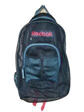 Reebok spell out Mesh Backpack Bag Black Unisex Gym Bag Nice!!