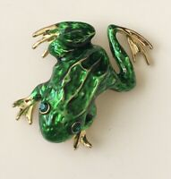 Vintage style Frog Brooch in enamel on metal