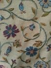 VTG Tapestry Fabric Upholstery Raise Floral 2.5 Yards x 55 Furniture Tan couch