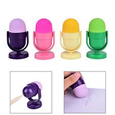 Rubber Eraser Creative Microphone Erasers With Sharpener For Kid SchoolSupplyFBH