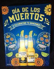 Corona beer Dia De Los Muertos tin metal sign Skull New Halloween Decor