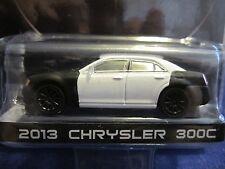 GreenLight Spy Shots 2013 Chrysler 300 Unmarked Blank Black & White Police? 1:64