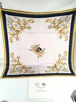 Wimbledon Silk Scarf England Lawn Tennis Vintage Head Square Made In Italy