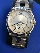 Movado Women's 0606619 'LX'  Stainless Steel Watch. Mint Condition