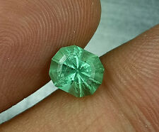 Sparkle Custom Cut  1.62 Cts Natural Muzo Colombia Emerald #G2 , Video