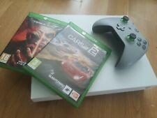 White Xbox One X 1TB, 2 Games & controller