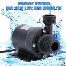 Pompa Acqua Sommergibile Brushless DC 12V 800L / H per Circolazione Dellacqua