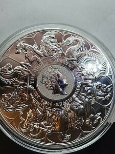 QUEEN'S BEAST SILVER KILO .999 IN HAND!! 32.15 TROY OZ LIMITED MINTAGE  QUEEN