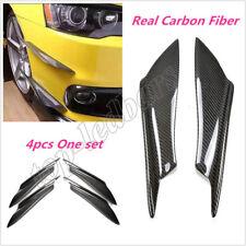 Front Bumper Canards Splitters Carbon Fiber For 08-17 Mitsubishi Lancer EVO X 10