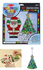Stained Glass Made Easy Craft Kit Christmas Tree Ornaments for Kids Fun and Art