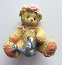 Cherished Teddies 'Rose' 202886 Girl With Rose Figurine Boxed & Certificate
