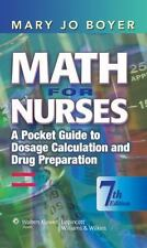 Math for Nurses-A Pocket Guide to Dosage Calculation & Drug Preparation 5X-182