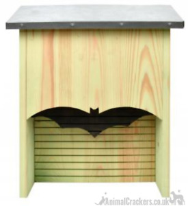 Extra large wood silhouette BAT BOX ROOSTING HOUSE zinc roof wildlife lover gift