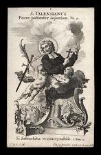 santino incisione 1700 S.VALENZIANO M. klauber