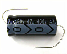 QTY 7 New MIEC 47UF 450V 105C Axial Electrolytic Capacitors