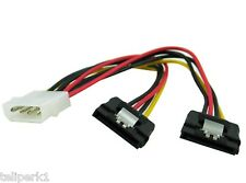 """4-pin Molex Male to Two (2) SATA Power Connectors, 6"""" length"""