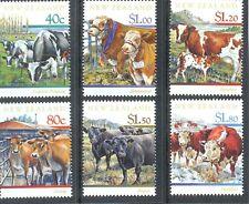 New Zealand-Cattle Breeds set of 6 mnh