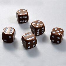25 Stück 16mm Braune Knobel Würfel / Augen Würfel Spielwürfel von Frobis