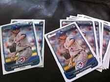 2012 Bowman Draft Drew Hutchison #36 Blue Jays 13 count- 2 chrome, 11 base lot
