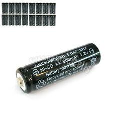 32 Pcs AA 2A 900mAh 1.2V Ni-Cd Ni-Cad Solar Light Rechargeable battery Black