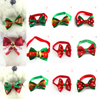 Lovely Christmas Dog Cat Pet Puppy Bowknot Necktie Collar Bow Tie Clothes Gift