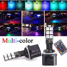 880 RGB LED Fog Light Bulbs Yellow Lamps Advanced 10W 893 899 890 8000K 10K DRL