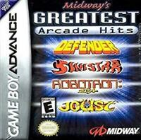 Midway's Greatest Arcade Hits Game Boy Advance Game Used