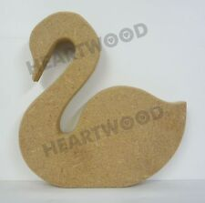 SWAN SHAPE MDF (150mm x 18mm thick)/WOODEN BLANK SHAPES/DECORATIVE