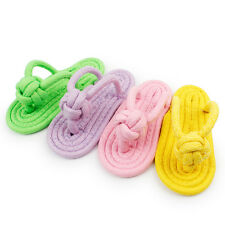 New listing Puppy Rope Slipper Play Knot Chew Toy Clean Teeth Bone Dog Teeth Cleaning