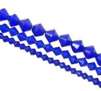 Glasperlen 4/6/8mm 3 Strange Perlenset Blau Schmuckherstellung BEST  D315