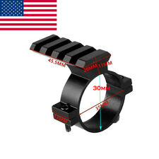 Barrel Mount 30mm Ring Scope Adapter Bracket w/ 20mm Weaver Picatinny Rail Us