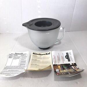 KitchenAid 5 Qt Tilt Head Mixer Frosted Glass Bowl 96oz W/ Lid & Manual K45