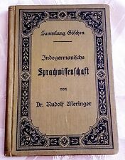 A rare Original German book from 1899 by Doctor Rudolf Meringer. Made in Leipzig