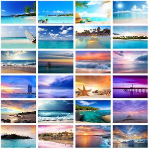 Summer Sea Beach Sunset Photography Background Studio Photo Backdrop Wall Decor