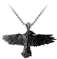 Alchemy Gothic Black Raven pendant gothic jewellery pagan wicca alternative Gift
