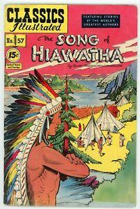Classics Illustrated 57 HRN 118 Song of Hiawatha Longfellow VGFN