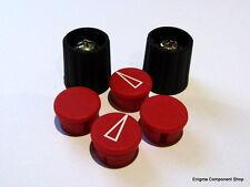 15mm Diámetro Rojo/Control Negro perillas. 6.35mm/0.6cm mango. ENVÍO RÁPIDO