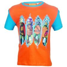 Tee shirt 6 ans Tortues Ninja Orange planche enfant NEUF