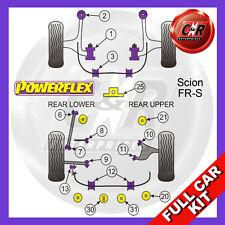 Scion FR-S hinterer Hilfsrahmen Buchsen,RR oberer Arm FR&RR ADJ Powerflex voll