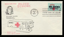 1425 -- Giving Blood - First Day cover with Virgil Crow cachet